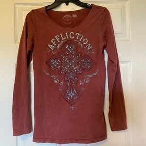 Affliction long sleeve tee